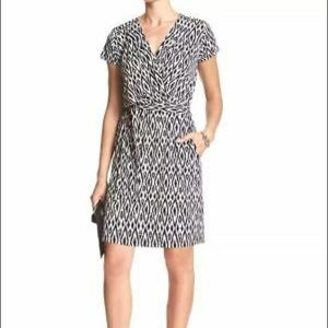 Banana Republic Ikat Wrap Dress With Tags